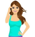 woman talking on the phone vector image vector image
