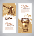 Vintage coffee backgrounds vector image