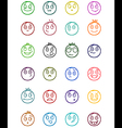 24 smiles icons set 1 vector image