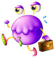 A purple monster with a new job vector image vector image