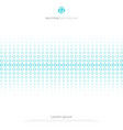 abstract blue circles halftone donuts pattern vector image