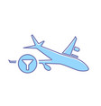 airplane filter flight plane transport travel icon vector image vector image