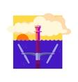 Alternative Energy Tidal Power vector image