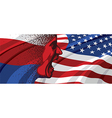 Angry face of Russia to USA vector image vector image