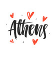 athens modern hand written brush lettering vector image vector image