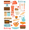 Baking icons vector image vector image