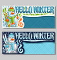 banners for winter holidays vector image