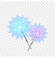 bengal light stick icon flat style vector image