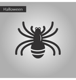 black and white style icon halloween spider vector image