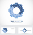 Blue abstract circle corporate logo vector image vector image