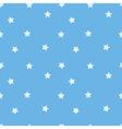 Blue star seamless pattern Stars on sky blue vector image vector image
