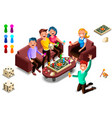 board games adults leisure vector image vector image