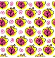 briht butterfly and heart seamless pattern vector image vector image