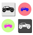 buggy car flat icon vector image