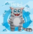 cartoon cat hello vector image