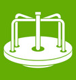 children merry go round icon green vector image vector image