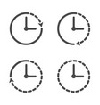 clock icon set 4 clock icons icon in line style vector image