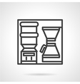 Coffee self-service icon vector image vector image