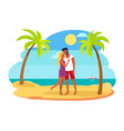 couple hugging each other vector image vector image