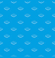 curly cloud pattern seamless blue vector image vector image