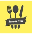 Cutlery emblem vector image vector image