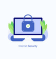 data protection internet security concept vector image vector image