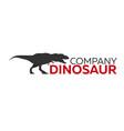 dinosaur logo concept diplodocus jurassic period vector image