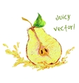 drawing slice of pear vector image vector image