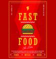 fast food menu design template vector image vector image