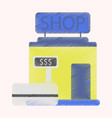 flat icon in shading style shop store vector image vector image