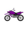 flat icon of fast sport bike bright purple vector image