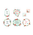 Floral frame collection wedding invitation save