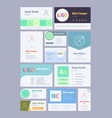 forms for email signature business card for email vector image