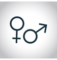 Gender symbol icon vector image