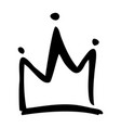 hand drawn crown on white background vector image vector image