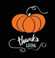 happy thanksgiving day give thanks autumn hand vector image vector image
