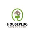 House Plug Design vector image vector image