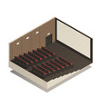 isometric cinema composition vector image vector image