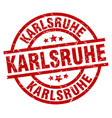karlsruhe red round grunge stamp vector image vector image