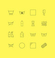 Laundry linear icon set simple outline icons