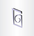 letter g abstract symbol design vector image