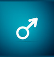 male gender symbol icon on blue background vector image vector image