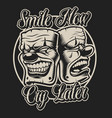 masks in chicano tattoo style vector image vector image