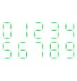 neon christmas font numerals watch vector image vector image