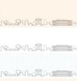 nimes hand drawn profile skyline vector image vector image