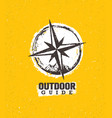 outdoor mountain trail guide creative adventure vector image vector image