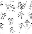 pattern cheerful active children vector image vector image