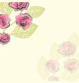 pattern of rose vector image vector image