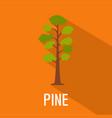 pine tree icon flat style vector image vector image