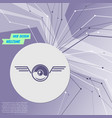 pokeball for play in game icon on purple abstract vector image vector image